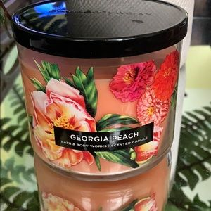 NEW BBW GEORGIA PEACH 3 WICK CANDLE